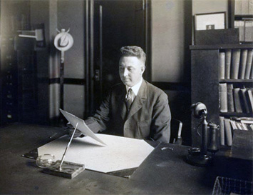 Photograph of A. R. Newsome, Secretary of the N.C. Historical Commission.  Image courtesy of the N.C. Museum of History.