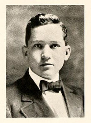 Senior portrait of Eugene Irving Olive, from the Wake Forest College yearbook <i>The Howler</i>, Volume Eight, p. 36. Published by the Euzelian and Philomathesian Literary Societies of Wake Forest College, Wake Forest, N.C., 1910.  Printed by the Everett Waddey Co., Richmond, V.A.