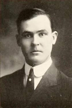 A photograph of Herbert Dale Pegg from the 1915 Wake Forest College yearbook. Image from DigitalNC, University of North Carolina at Chapel Hill.