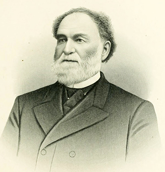 An engraving of Newsom Jones Pittman published in 1892. Image from the Internet Archive.
