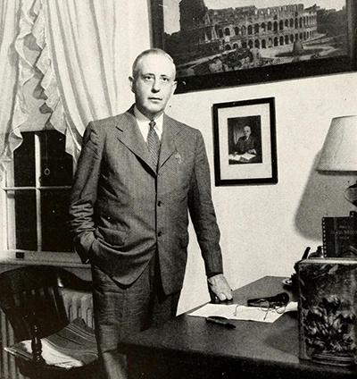 A photograph of professor Hubert McNeill Poteat from the 1948 Wake Forest College yearbook. Image from