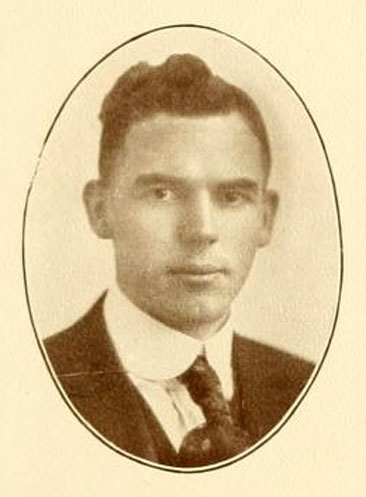 Faculty portrait of Thomas Edward Powell, Jr.  From the 1924 Elon College yearbook <i>Phi Psi Cli,</i> Volume X,  p. 23.  Published by the Senior Class of Elon College, Elon, North Carolina.