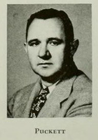 Image of William Olin Puckett, from Quips and Cranks 1947, [p.20], published 1947 by Davidson College. Presented on Digital NC.