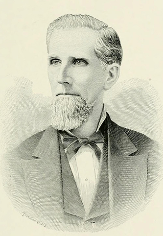 An engraving of James Graham Ramsay published in 1892. Image from Archive.org.
