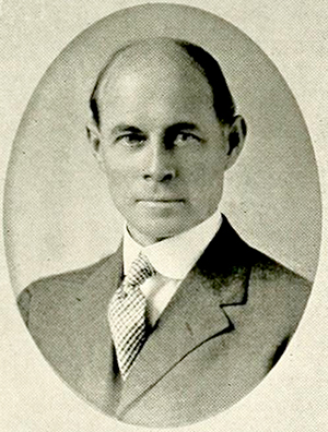 A photograph of Dean Charles Lee Raper from the 1918 University of North Carolina yearbook. Image from the Internet Archive.