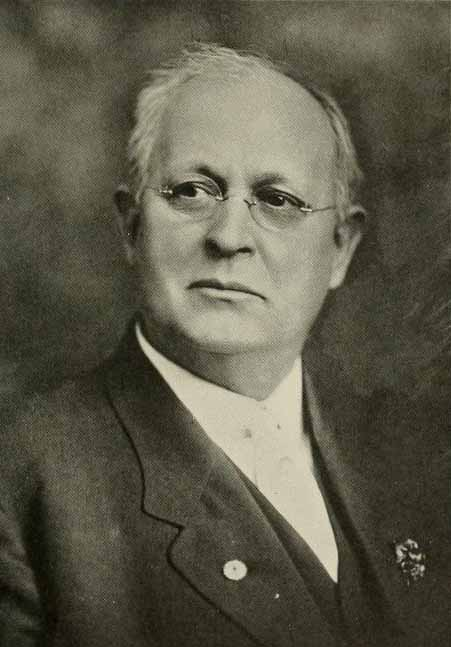 Image of John Edwin Ray, from the Oak leaves yearbook, [p.5], published 1914 by Raleigh, NC: Meredith College. Presented on Internet Archive.