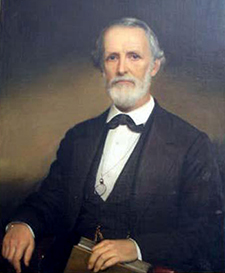Portrait of Edwin Godwin Reade by William Garl Brown, 1872. Image from the North Carolina Museum of History.