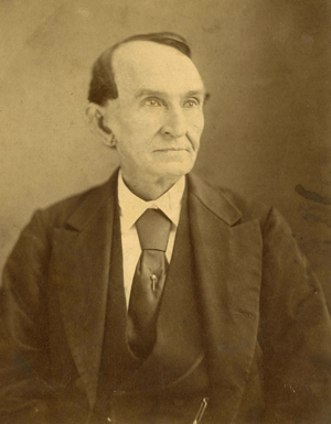 A photograph of David Settle Reid from 1875. Image from DigitalNC /  	Copyright Rockingham Community College, Historical Collections, Gerald B. James Library.