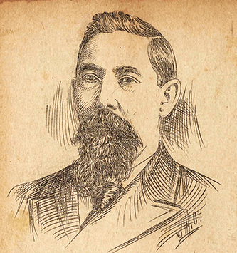 An newspaper engraving of Charles Albert Reynolds published in 1897. Image from the Braswell Memorial Library, Rocky Mount, N.C.