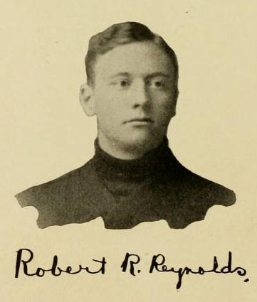 Image of Robert Rice Reynolds, from the Yackety Yack at the University of North Carolina at Chapel hill, [p. 42], published 1906 by Chapel Hill, Publications Board of the University of North Carolina at Chapel Hill. Presented on Digital NC.