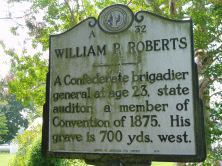William Paul Roberts marker on NC 37 in Gatesville, Gates County. Presented on North Carolina Highway Historical Marker Program.