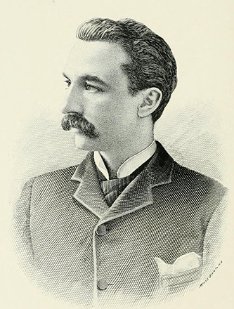 An engraving of Joseph Edward Robinson published in 1892. Image from the Internet Archive.