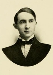 Photograph of William Smith O'Brien Robinson's son, William Smith O'Brien Robinson, Jr., in the University of North Carolina at Chapel Hill yearbook <i>Yackety Yack 1907.</i>  From DigitalNC.org.
