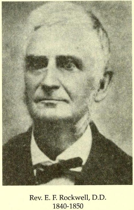 Image of Elijah Frink Rockwell, from Old Fourth Creek: the story of the First Presbyterian Church, Statesville, 1764-1989, [p. 114], published in 1995. Presented on Internet Archive.