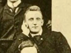 A photograph of Howard Edward Rondthaler from the 1893 University of North Carolina yearbook. Image from the Internet Archive.