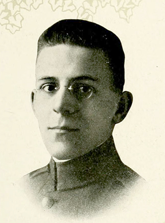 A photograph of Theodore Edward Rondthaler from the 1919 University of North Carolina yearbook. Image from the Internet Archive.