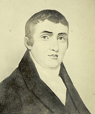 A photograph of a portrait of Martin Ross (1762-1828). Image from the Internet Archive.