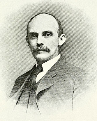 An engraving of George Rountree published in 1919. Image from the Internet Archive.