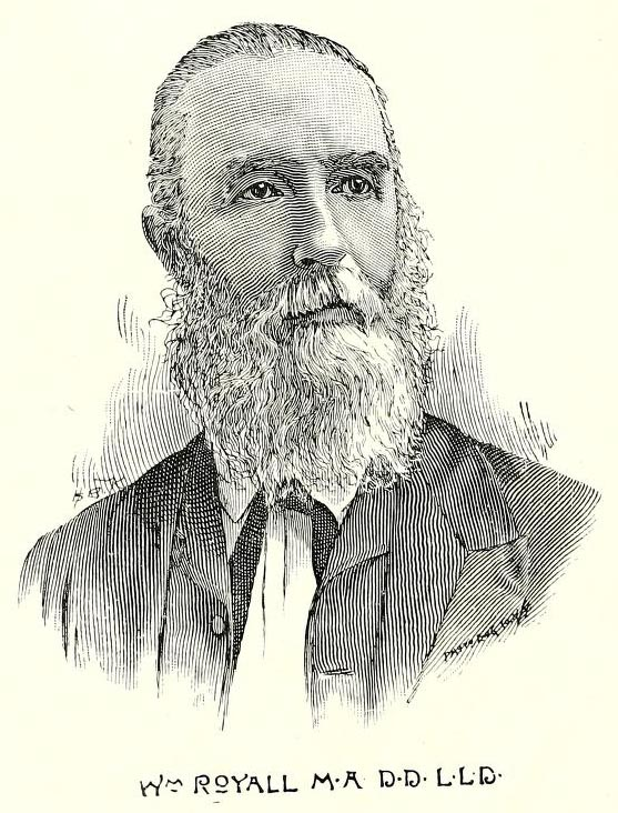 Image of William Royall, from North Carolina Baptist historical papers, vol. 1, [p.77], published 1897 by Henderson, N.C.: North Carolina Baptist Historical Society. Presented on Internet Archive.