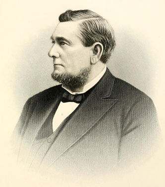 Engraving of David Schenck, circa 1889. Image from Archive.org.