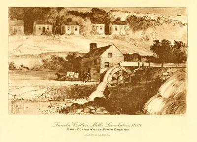 """Lincoln Cotton Mills, Lincolnton 1813,"" in Lamb's Textile Industries of the United States,</i> Vol. II, p. 330-331, edited by E. Everton Foster, published by James H. Lamb, Boston, 1916.  Presented on Archive.org."