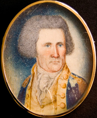 A miniature portrait of John Sevier by James Willson Peale, circa 1745-1814. Image from the Tennessee Portrait Project, National Society of Colonial Dames of America in Tennessee.