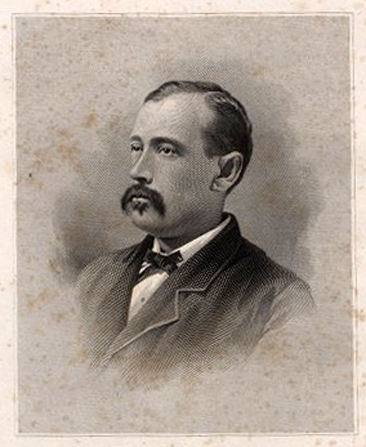 Portrait of John Williams Shackelford from <i>Memorial Addresses on the Life and Character of John W. Shackelford Delivered in the House of Representatives and in the Senate,</i> Forty-Seventh Congress, Second Session. Published 1883 by Order of Congress, Government Printing Office. Presented by East Carolina University Digital Collections.