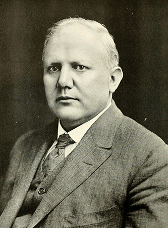 A photograph of Henry Fries Shaffner published in 1919. Image from the Internet Archive.