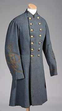 Henry Marchmore Shaw's Confederate uniform coat. Image from the North Carolina Museum of History.