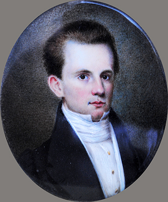 A miniature portrait of Charles Biddle Shepard. Image courtesy of Tryon Palace.