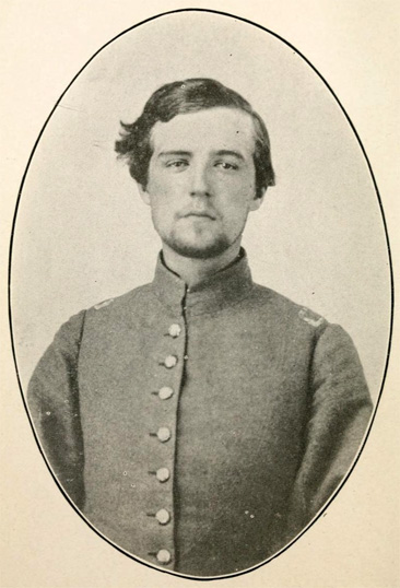 Photograph of Henry Elliott Shepherd in Confederate uniform, from his <i>Narrative of Prison Life at Baltimore and Johnson's Island, Ohio,</i> published 1917 by Commerical Ptg. & Sta. Co., Baltimore.  Presented on Archive.org.