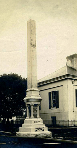 The monument to William Ewen Shipp in Charlotte. Image from the North Carolina Museum of History.