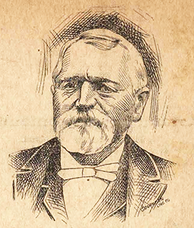 An engraving of Thomas Gregory Skinner published circa 1897. Image from the Braswell Memorial Library, Rocky Mount, N.C.