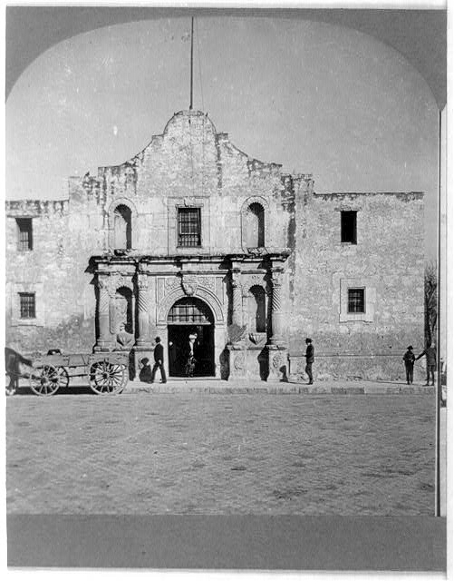 """The Alamo,"" San Atonio, Texas, photograph 1909.  From the Library of Congress Prints & Photographs Online Catalog."