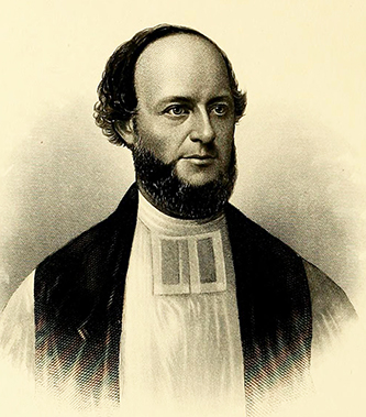 An 1880 engraving of Reverend Aldert Smedes. Image from Archive.org.