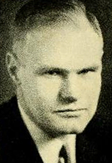Photograph of Carl Gray Snavely, UNC Football Coach, from the University of North Carolina Yearbook <i>The Yackety Yack</i>, 1935, p. 220. Presented on DigitalNC.