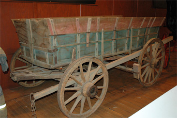 Photograph of farm wagon, attributed to Spach Wagon Works, made circa 1880-1900.  Item S.1986.29.1 from North Carolina Historic Sites, North Carolina Department of Cultural Resources.