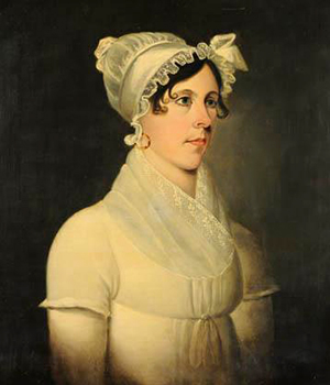 Portrait of Margaret Elizabeth Spaight, daughter of Richard Dobbs Spaight, by Jacob Marling, 1816-1818. Image from the North Carolina Museum of History.