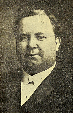 A photograph of Bernard Washington Spilman published in 1912. Image from the Internet Archive.