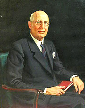 A 1937 portrait of Frank Shepherd Spruill by Sidney Dickinson.  Image from the North Carolina Museum of History.