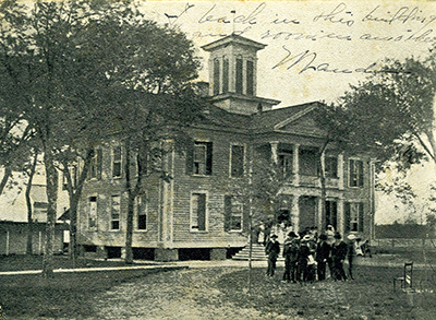 A 1908 postcard of the James Sprunt Institute, named after James Menzies Sprunt. The Institute was formerly known as the Grove Academy and renamed for Sprunt in1896. Image from the North Carolina Collection, University of North Carolina at Chapel Hill.