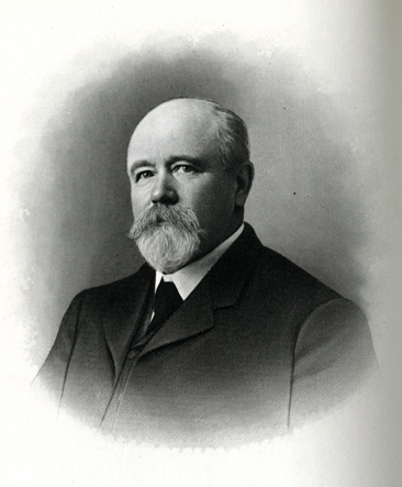 Engraved portrait of Lycurgus Lafayette Staton, from Samuel A. Ashe's <i>Biographical History of North Carolina</i>, Vol. 7, p. 443, published 1908 by Charles L. Van Noppen, Publisher, Greensboro, NC. From the collections of the Government & Heritage Library, State Library of North Carolina.