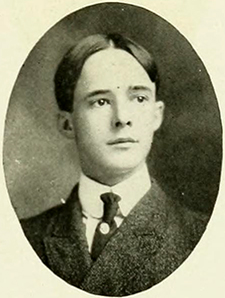 A  photograph of Stroud Jordan from the 1905 University of North Carolina yearbook. Image from the Internet Archive.