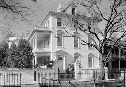 The Colonel John Stuart House in Charleston, S.C., 1940. Stuart's house was designated a National Historic Landmark in 1973. Image from the Library of Congress/Historic American Buildings Survey.