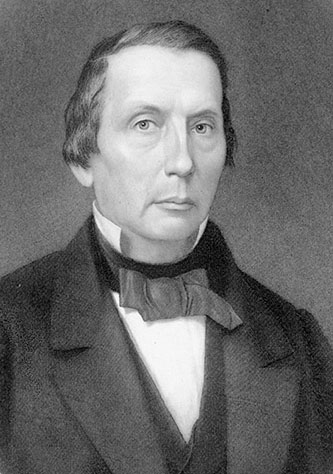 Engraving of David Lowry Swain by John Sartain. Image from the State Archives of North Carolina.