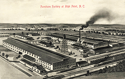 A Postcard Circa 1905 1915 Showing The Continental Furniture Company  Factory Of Fred N.