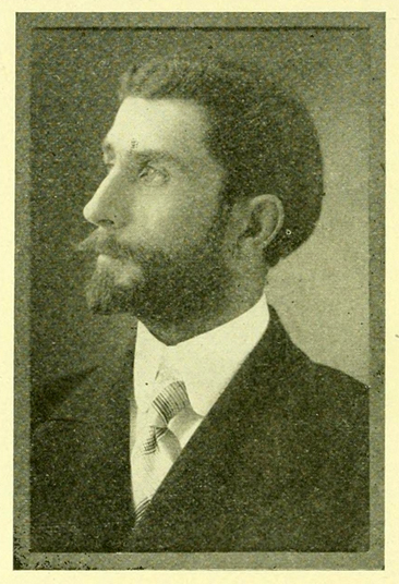 Portrait of A.E. Tate, from J. J. Farriss's <i>High Point North Carolina</i> published [1909, Enterprise Printing Company, High Point, NC].  Presented on Archive.org. A.E. Tate was the secretary and treasurer of the High Point Furniture Company.