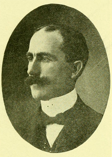 Portrait of John H. Tate, from J. J. Farriss's <i>High Point North Carolina</i> published [1909, Enterprise Printing Company, High Point, NC].  Presented on Archive.org.