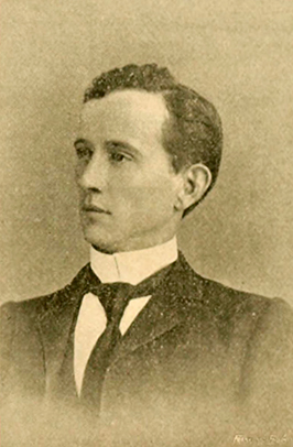 A photograph of Clinton White Toms published in 1895. Image from the Internet Archive.