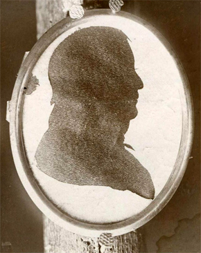 Image of silhouette of Governor James Turner, brother of Jacob Turner.  From the collections of the North Carolina Museum of History.